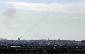 Raketa z civilní oblasti v Pásmu Gazy vypálená na Izrael (2008, ilustrační foto) (foto: paffairs_sanfrancisco, licence: cc-by-sa-2.0.