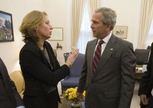 Tzipi Livniová a George Bush (foto: Eric Draper, licence : PD)