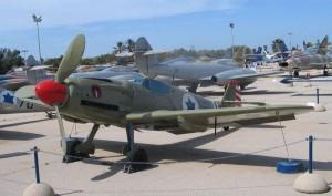 Československé letadlo Avia S-199 z výzbroje izraelského letectva v leteckém muzeu v Hatzerim (foto: Bukvoed)