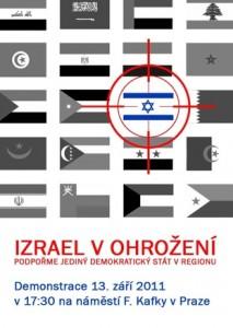 Demonstrace na podporu Izraele se tento týden uskuteční v Praze