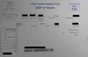 Průkaz voliče pro volby v roce 2009 (foto: A.S.)