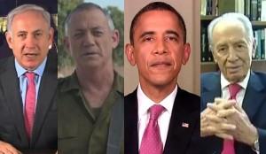 Přání do nového roku zveřejnil na internetu Netanjahu, Peres, Gantz i Obama (+videa)
