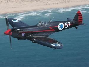 """Legendární """"Černý Spitfire"""" izraelského prezidenta Ezera Weizmana (foto: www.1000pictures.com)"""