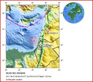 Izrael zasáhlo zemětřesení o síle 4,2 stupně Richterovy škály