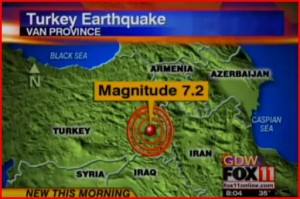 Turecko zasáhlo zemětřesení
